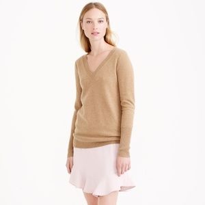 J.Crew  Women's Collection Cashmere V-neck Sweater